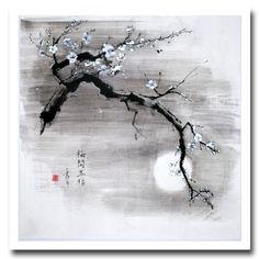 """Résultat de recherche d'images pour """"fleur dessin encred e chine"""""""