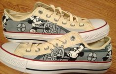 f1117f8b1555 Steamboat Willie Hand Painted Custom by CandysCustomPaints on Etsy