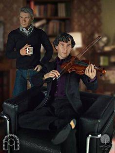 "BBC ""Sherlock"" Action Figures."