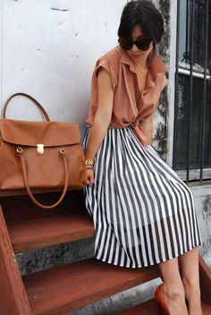 vertical stripes skirt