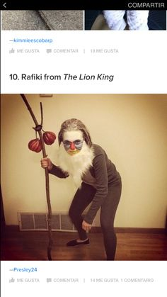 my rafiki fancy dress costume lion king garde. Black Bedroom Furniture Sets. Home Design Ideas