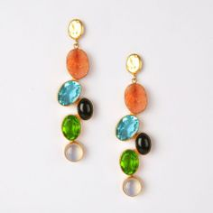 Pebble earrings  Stunning earrings with sugar druzy, glass crystals and agates. Just these beauties is enough to jazz up any outfit! Shop here: http://www.tadpolestore.com/citrus-by-vidhi-and-vartika