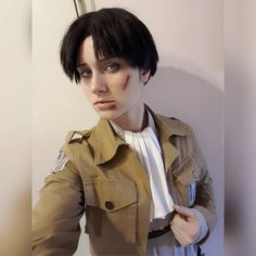 Small battle scars. 🔰🔰🔰 #cosplay #cosplayer #crossplay #crossplayer #leviackerman #levi #ackerman #levicosplay #leviackermancosplay #aot… Levi Cosplay, Battle Scars, Levi Ackerman