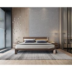 This collection is a unique modern bed frame designed with masculine and thoughtful details. Each frame is specially made with its own natural strikes and colors inspired by live wood edges and form. Simple, yet infinitely complex. For extra storage, pair Modern Minimalist Bedroom, Modern Bedroom Decor, Bedroom Furniture, Bedroom Ideas, Contemporary Bedroom, Bedroom Designs, Ikea Bedroom, Furniture Design, Bedroom Colors
