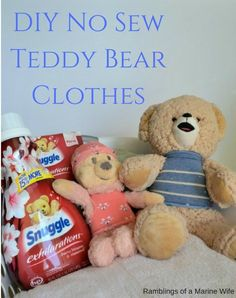 DIY No Sew Teddy Bea