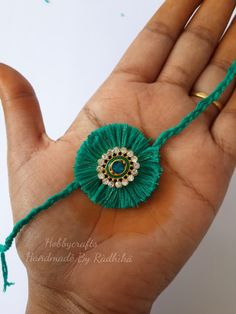 rakhi with Silk threads - We have 15 best ideas to make Rakhi at home for Rakshabandhan - Perfect rakhi ideas for kids to make, rakhi competition, best of waste, simple and handmade with detailed step by step images- ArtsyCraftsyMom
