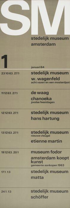 Exhibition Program Poster 1, Stedelijk Museum, Amsterdam., 1964