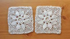 Pair of Rectangular Beige Vintage Crochet by rachaelsscraps