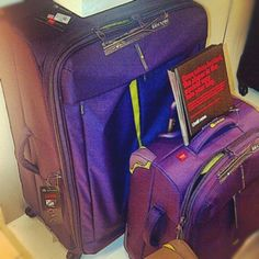 Delsey purple luggage set. Very pretty.