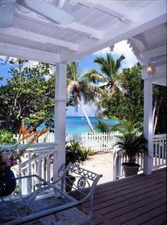 This is a small 1-bedroom beach cottage located on Gibney Beach - St John US Virgin Islands.  I only wish it were larger because the views are spectacular.  *Visit website for additional pictures.