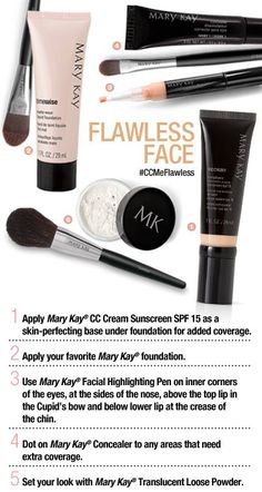 Let me help you get a Flawless Face with these great products! Www.marykay.com/lheff