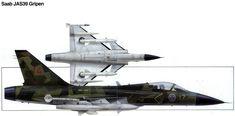 Saab JAS 39 Gripen. Operational:Sweden:Såtenäs AFB – 3 AJ (Attack-Jakt) squadrons from 1998 Ängelholm – 2 SF (Spaning) en 1 AJ squadron from 2001 Kallinge – 2 AJ squadrons from 2002 Luleå – 1 AJ squadron from 2001