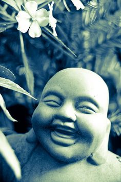 Happiness is realizing that all is well, all the time. Maitreya the laughing Buddha expresses this. Perfection can never not exist, we make choices and life unfolds accordingly. When Karma comes for you it is perfect. Laugh and know all is well. Tiny Buddha, Little Buddha, Buddha Zen, Namaste, Comic Manga, A Course In Miracles, Spiritual Inspiration, Yoga Meditation, Meditation Space