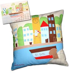 Kids Pillow Personalized Pillow Case Cushion  by DreamsGuardian, $60.00