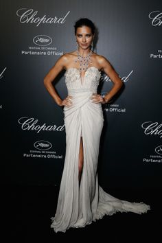 Adriana Lima arrives to the Chopard Backstage Dinner & Afterparty at the Cannes-Mandelieu Aerodrome during the 67th Annual Cannes Film Festival on May 19, 2014 in Cannes, France