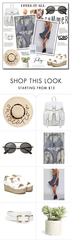 """Yoins 59"" by zulaltprk ❤ liked on Polyvore featuring August Hat, Earth, Allstate Floral, Pottery Barn, yoins, yoinscollection and loveyoins"