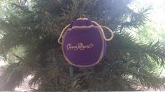 Crown Royal Bag Upcycled Christmas Ornament by LuluBelleQuilts
