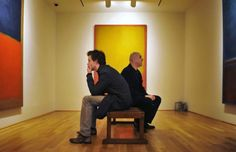 Eddie Redmayne and Alfred Molina study Rothko's paintings in preparation for their roles in 'Red' by John Logan Michael Grandage, Contemporary Plays, Alfred Molina, First Bank, Eddie Redmayne, Mark Rothko, Still Standing, Beautiful Men, Meditation