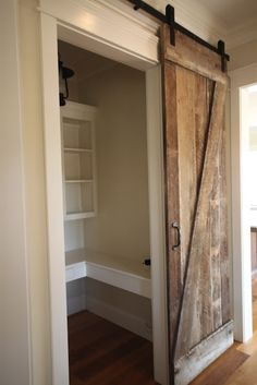 Barn doors today are becoming part of interior decoration in many houses because they are stylish. When building a barn door on your own, barn door hardware kit Indoor Sliding Doors, Sliding Barn Door Hardware, Indoor Barn Doors, Moving Walls, Interior Barn Doors, Cabana, Home Remodeling, New Homes, House Design