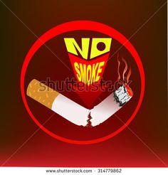 No Smoke sign single and logo dangerues