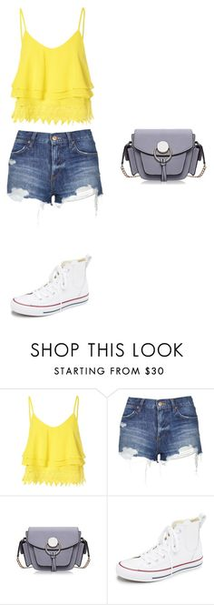 """""""Untitled #261"""" by doda-laban on Polyvore featuring Glamorous, Topshop, Converse, women's clothing, women's fashion, women, female, woman, misses and juniors"""