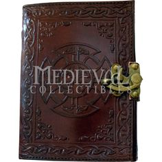 Celtic Knot Embossed Leather Journal with Lock - 060-2547 by Medieval Collectibles