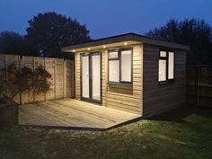 Part of The Garden Room, The Garden Pod. A high spec building: features double glazed doors and windows with energy saving glass. We also include insulated walls, roof and floor to create a home office you can work from throughout the year.