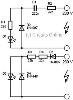 circuit that is used to operate LED with voltage 230Volt, 230Volt it so that the voltage must be lowered in accordance with the needs of the LED itself. To lower it even necessary circuit as below.