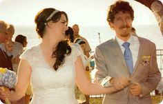 #PandTGetMarried ~ our blue and yellow wedding on the Gulf