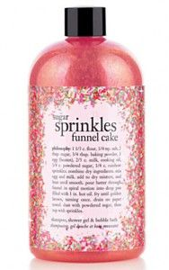 'Philosophy' Sugar Sprinkles Funnel Cake Body Wash. Smells. So. Good.