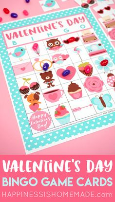 These printable Valentine's Day bingo cards make the perfect Valentines game for all ages! Great for class parties, family game night, Scouts, and more! Valentines Anime, Valentine Bingo, Valentines Games, Valentine Activities, Valentines Day Party, Valentines For Kids, Valentine Day Crafts, Valentine Ideas, Printable Valentine