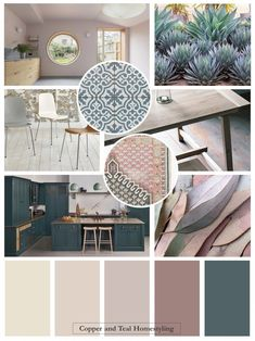 "We have created a look for this contemporary kitchen diner that includes Farrow and Ball's new colour ""Sulking Room Pink"" together with the ever popul… – Living Room"