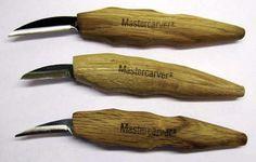 Master Carver Knives #3019 Set 3 Natural Grip Carving Knives