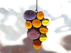 Stained Glass Gem Warm Color Suncatcher 1526 by paintedlightglass, $18.00