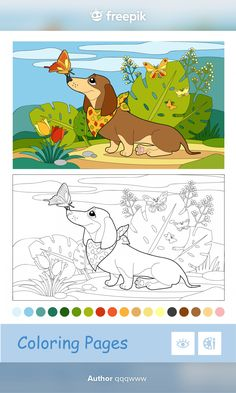 Coloring For Kids, Coloring Books, Kid Activities, Preschool, Butterfly, Templates, Stock Photos, Pets, Illustration