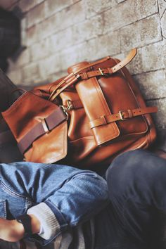 Bag. - Leather, Satchel, Menswear, Style, Fashion.