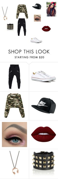 """""""Dance Hip Hop / KAMI"""" by horrorsis ❤ liked on Polyvore featuring Converse, NIKE, Lime Crime, Manuel Bozzi and Valentino"""
