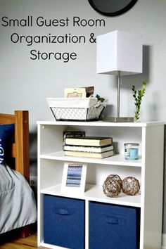 How to create storage and organization in a small guest room. #BigLotsHome #ad @biglots