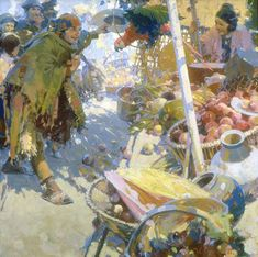Walter Everett - Kelly Collection American Illustration Art (the colors of the apples! I need a detail!)