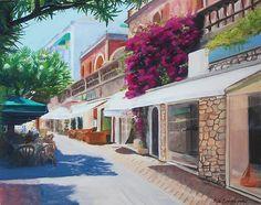 Capri Italy - oil on canvas - by Sue Birkenshaw