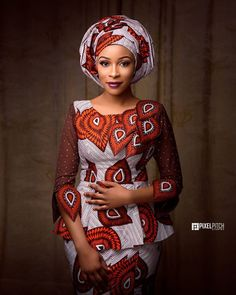 The way the Hausas spice up their Ankara outfits in a sophisticated way cannot be overlooked! They always make Ankara worth wearing for any occasion and event. The fun part… African Wear, African Attire, African Women, African Dress, African Style, African Outfits, African Girl, African Clothes, Ankara Dress