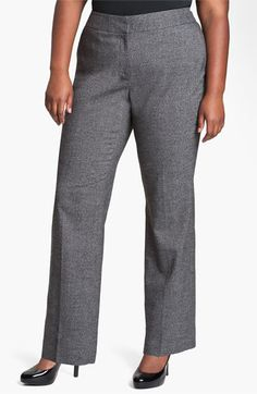 Sejour Herringbone Suit Trousers (Plus) available at #Nordstrom