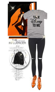 """""""~Fangirl~"""" by amethyst0818 ❤ liked on Polyvore featuring Topshop, Disney, Charlotte Olympia and H&M"""