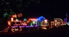 Christmas Lights at Locomotive Park, Lewiston ID