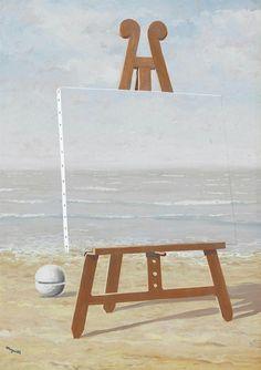 René Magritte (Belgian, 1898-1967),La belle captive, 1946. Gouache on paper, 49.5 x 36.2 cm.