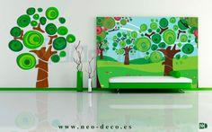 murales infantiles de arboles - Buscar con Google