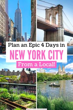 Plan 4 Days in New York City using this epic guide written by a local. Get detailed, day-by-day planning with NYC maps and helpful New York City travel tips! #travel #NYC #NewYorkCity New York Vacation, New York City Travel, Travel Usa, Travel Tips, Best Travel Websites, Traveling Teacher, Us Travel Destinations, City Guides, Trip Planning