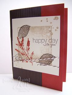Fall Card made using French Foilage Stamp set from Stampin' Up!