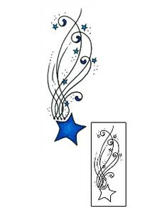 Shooting Star Tattoos AAF-11154 Created by Andrea Ale