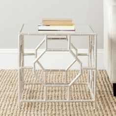 Safavieh Treasures Rory Silver/ Mirror Top Accent Table | Overstock.com